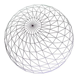 Level of detail - A wireframe sphere with roughly 1600 sample points.