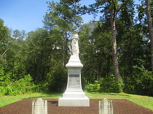 Moores Creek National Battlefield - Statue at Moores Creek honoring the contributions of colonial women in the Lower Cape Fear during the American Revolution