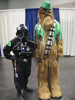 File:WonderCon 2012 - TIE Fighter pilot and St Patrick's Day festive Chewbacca (7019314107).jpg
