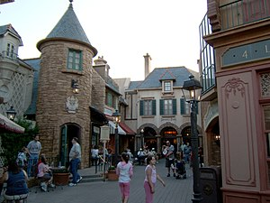 World-Showcase, Disney World, pavillon français.
