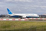 Xiamen Airlines Boeing (B-2760) 787-8 Dreamliner arriving at Sydney Airport.jpg