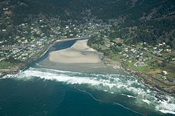 Aerial view of Yachats