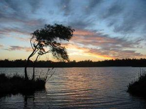 Yanchep - Sunset over Loch McNess in Yanchep National Park