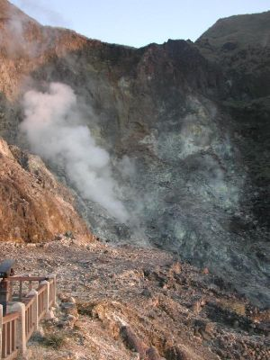 Yangmingshan - An active fumarole at Xiaoyoukeng.