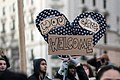 """You Are Welcome sign, Thursday evening rally against Trump's """"Muslim Ban"""" policies sponsored by Freedom Muslim American Women's Policy (32165557100).jpg"""