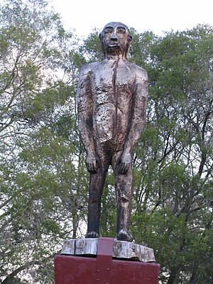 Mythology of Australia - Statue of a Yowie