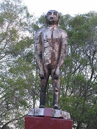 Mythology of Australia - Statue of a Yowie
