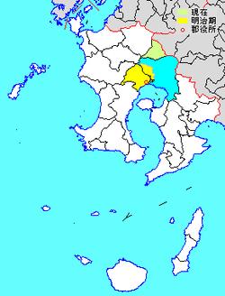 Vị trí của Yūsui ở Kagoshima
