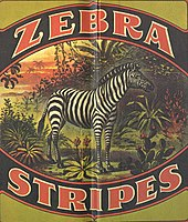 "Illustration of a business's ""Zebra Stripes"" logo"