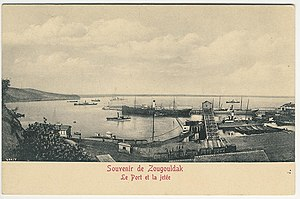 Zonguldak - Zonguldak port and breakwater, Turkey Ottoman era postcard