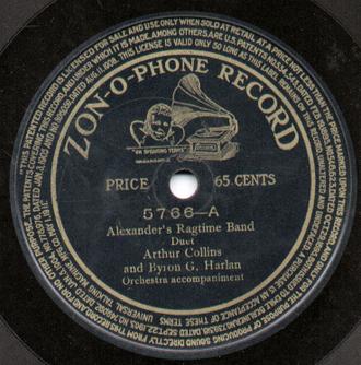 Zonophone - A Zon-O-Phone record