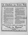 """A Chicken in Every Pot"" political ad and rebuttal article in New York Times - NARA - 187095.tif"