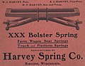 """""""XXX Bolster Spring"""" """"Farm Wagon Seat Springs"""" """"Truck and Platform Springs""""""""manufactured by Harvey Spring Co. Racine, Wisconsin"""" ad detail, from- Racine (Wisconsin) City Directory 1906 (page 2 crop).jpg"""