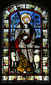 'Church of St Andrew' Greensted, Ongar, Essex England - stained chancel window to Jesus.JPG