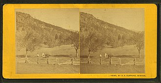 Rumney, New Hampshire - Image: 'Have this next,' on slope of Rattlesnake Mt., Rumney, N.H, by Clifford, D. A., d. 1889
