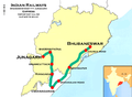 (Bhubaneswar - Junagarh) Express Route map.png