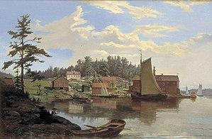 1856 in Sweden - Äppelviken av J.Z. Blackstadius 1856