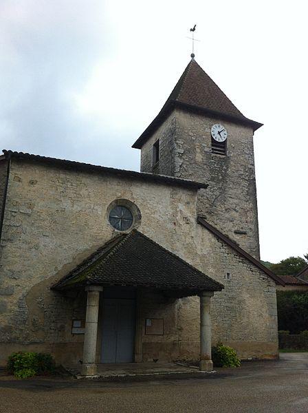 Vue de l'Église Saint-Pierre de Chavannes-sur-Suran (01250)