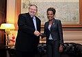 Συνάντηση Αντιπροέδρου Κυβέρνησης και ΥΠΕΞ Ευ. Βενιζέλου με την πρώην Γενική Κυβερνήτη του Καναδά κα Michaëlle Jean (10691975006).jpg
