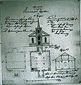Гродно. Проект евангелической церкви. Архитекторы Г.Г. Валлерт, Михаелис. 1840 г. РГИА.jpg
