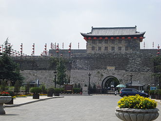 Nanjing - Zhonghua Gate is the south gate of the walled city of Nanjing. The city wall was built in the 14th century and is the longest in the world.
