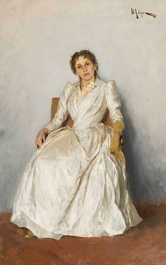 Sofia Kuvshinnikova - Portrait by Levitan (1888)