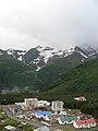"""П.Терскол, вид с тропы, ведущей к водопаду """"Девичьи Косы""""Приэльбрусье, июль 2008 - panoramio.jpg"""