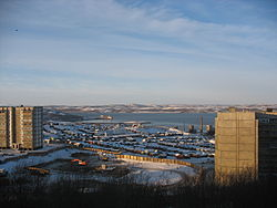 View of the Kola Bay in Severomorsk