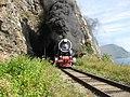 Туристический поезд на Кругобайкальской железной дороге.jpg