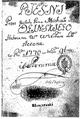 Тытульны аркуш рукапісу песняў Міхала Казіміра Агінскага. 1770 г..png