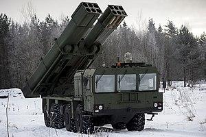 BM-27 Uragan - Image: Ураган 1М Тренировка курсантов Михайловской военной артиллерийской академии 02