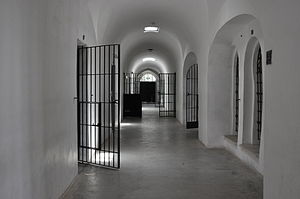 Museum of Underground Prisoners - Hallway and prison cells at the museum