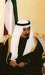 عميد الصحافة ناصر العثمان الفخرو مع أمير الكويت السابق الشيخ جابر الأحمد الصباح