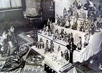 Golu - A Bommala Koluvu display in early 1950s.