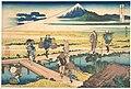 冨嶽三十六景 相州仲原-Nakahara in Sagami Province (Sōshū Nakahara), from the series Thirty-six Views of Mount Fuji (Fugaku sanjūrokkei) MET DP141073.jpg