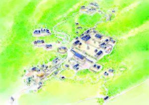 Sudeoksa - Image: 수덕사 가이드맵