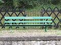 -2019-09-20 Cromer Beach station bench, Cromer beach signal box, Cromer.JPG