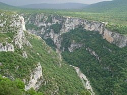 The Gorge of the Verdon River