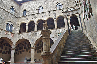 Bargello - Stairs and inner courtyard.