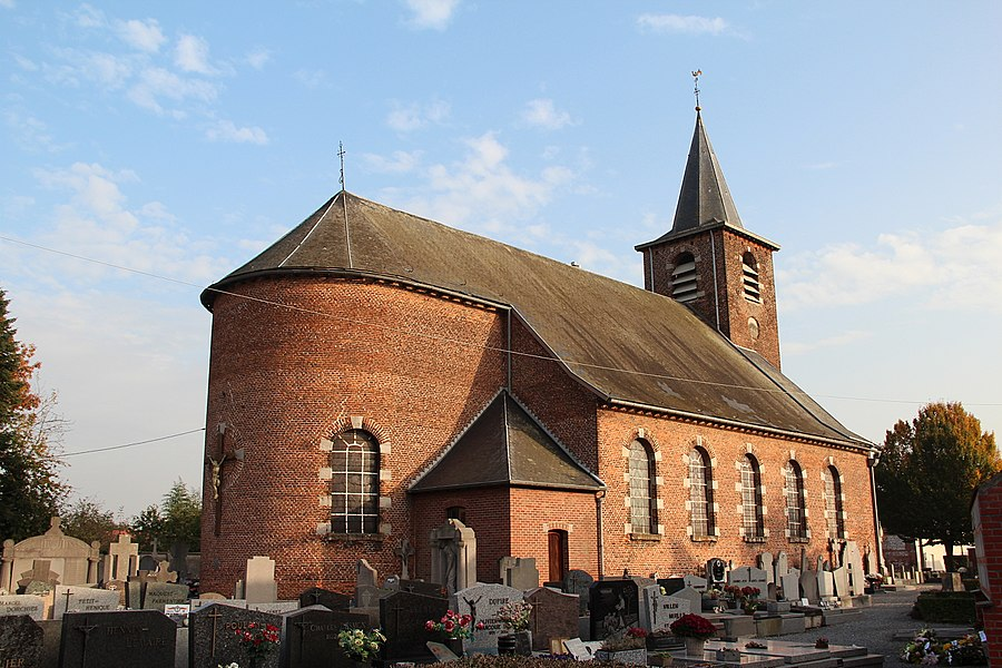 Esplechin (Belgium), the Saint Martin's church (XVIIIth cetury).