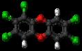 1,2,3,7,8-Pentachlorodibenzodioxin molecule ball.png
