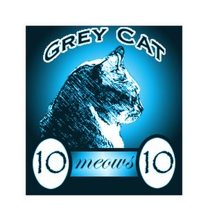 Artistamp - Artistamp by Elaine with Grey Cats, 2005
