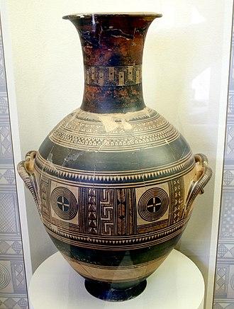 Kerameikos Archaeological Museum - Image: 1015 Keramikos Museum, Athens Cinerary urn amphora, 10th century BC Photo by Giovanni Dall'Orto, N