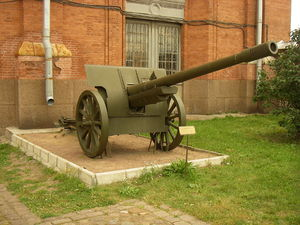 107 mm gun M1910/30 - M1910/30 in the Artillery Museum, Saint Petersburg.