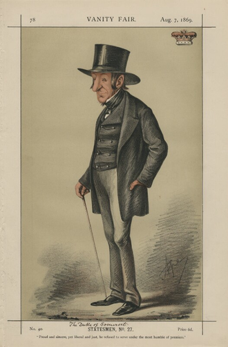 Edward Seymour, 12th Duke of Somerset - The Duke of Somerset, by Carlo Pellegrini, 1869.