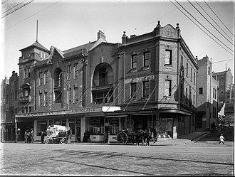145 George Street, The Rocks - 145 George Street, The Rocks, located on the corner of Globe Street; undated.