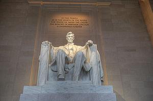 Abraham Lincoln (1920 statue) - Image: 15 23 0110 lincoln