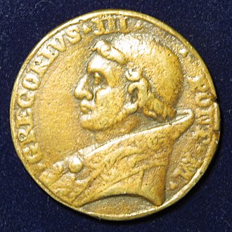 Pope Gregory III - Pope Gregory III – Papal medallion of the 8th century – obverse.