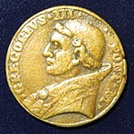 Pope Gregor III - Pontyfikats medal of the 8th century - obvers.