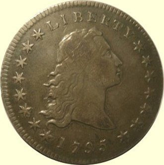 History of the United States dollar - A 1795 Flowing Hair Dollar